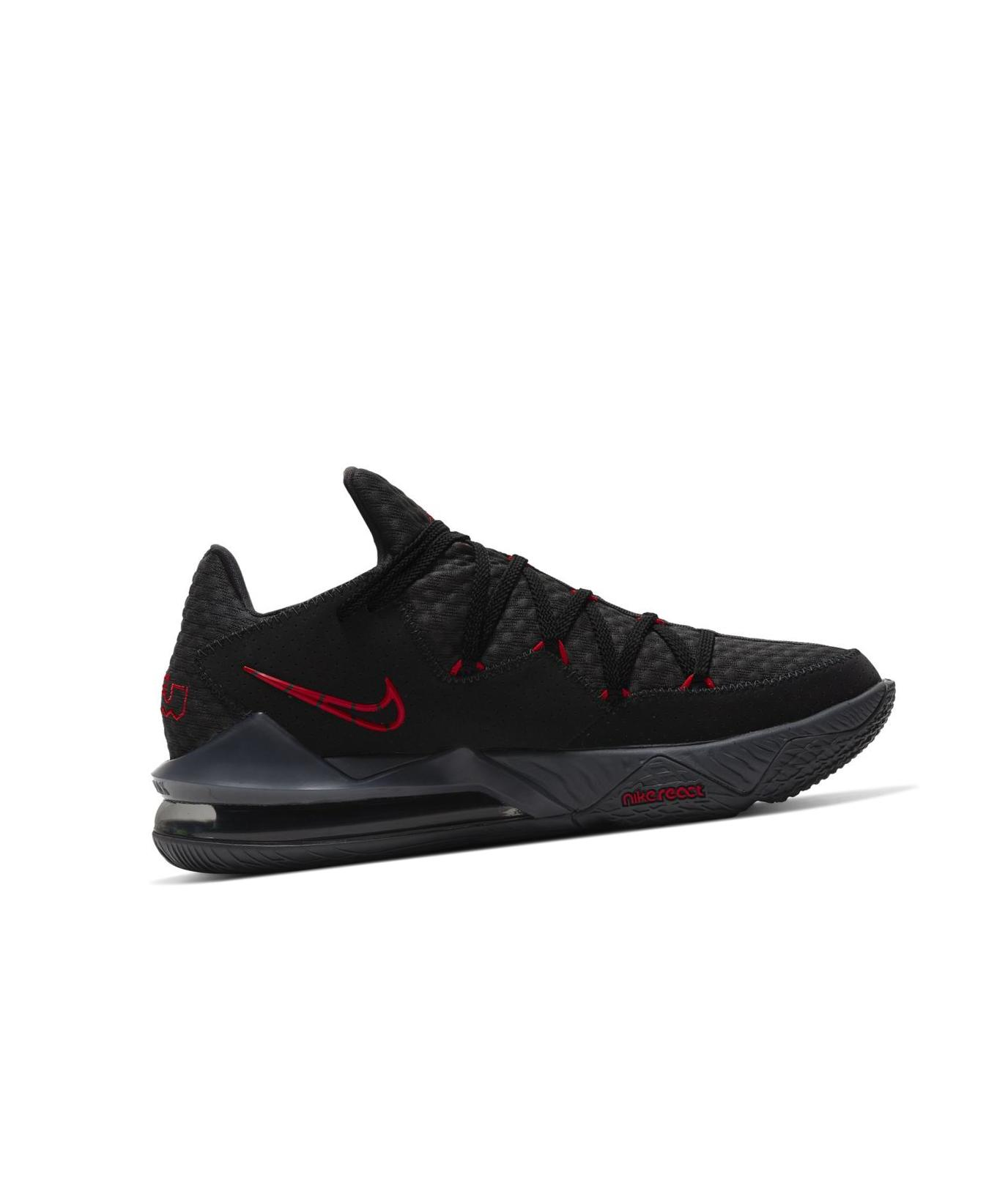 LeBron 17 Low Black/Dark Grey/University Red