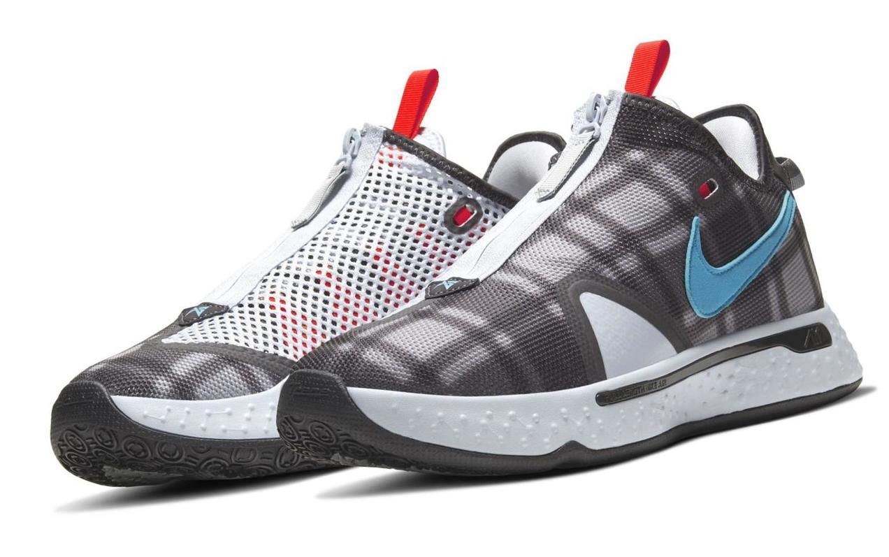 PG 4 Football Grey/Light Solar Flare Heather/Bright Crimson/Laser Blue