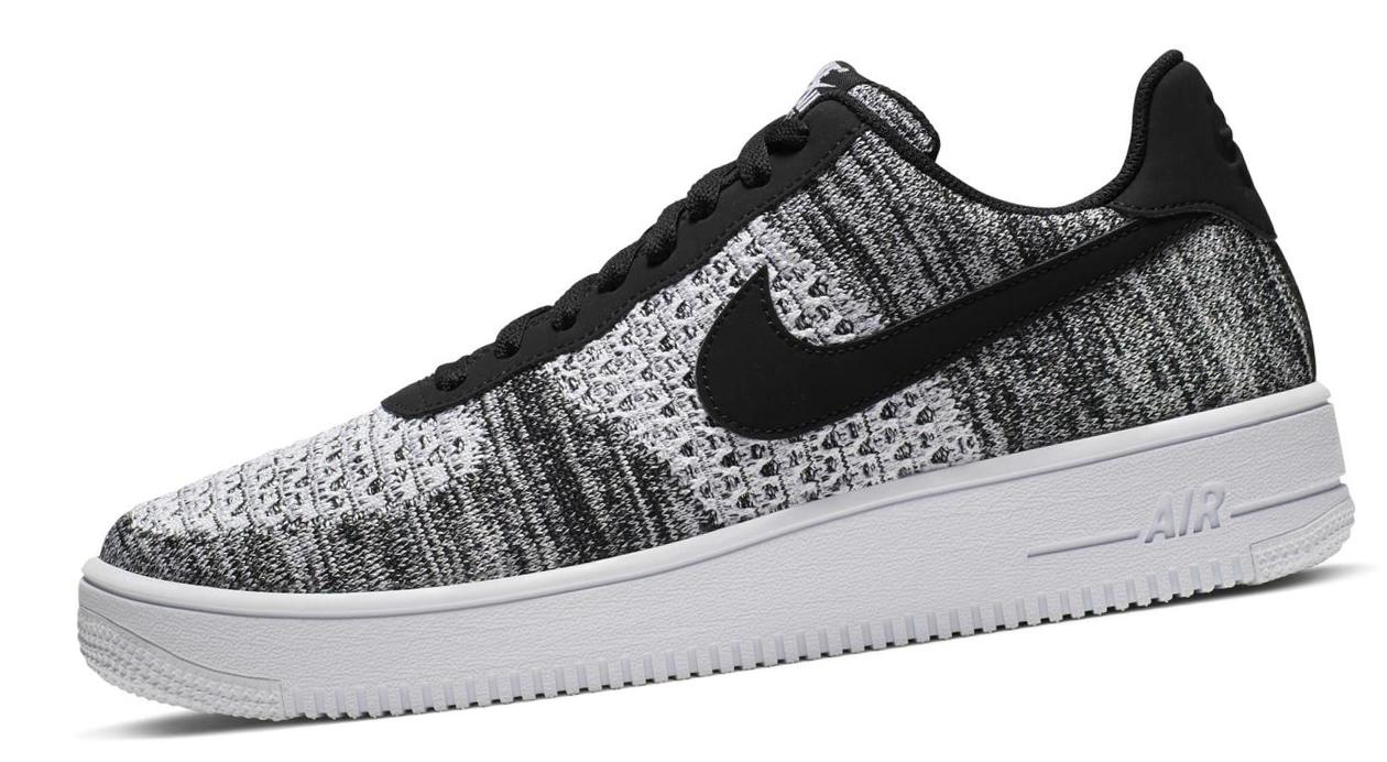 Nike Air Force 1 Flyknit 2.0 Black/Black/White/Pure Platinum