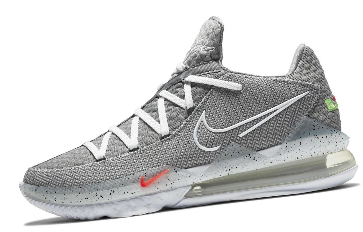 LeBron 17 Low Particle Grey/Light Solar Flare Heather/Black/White