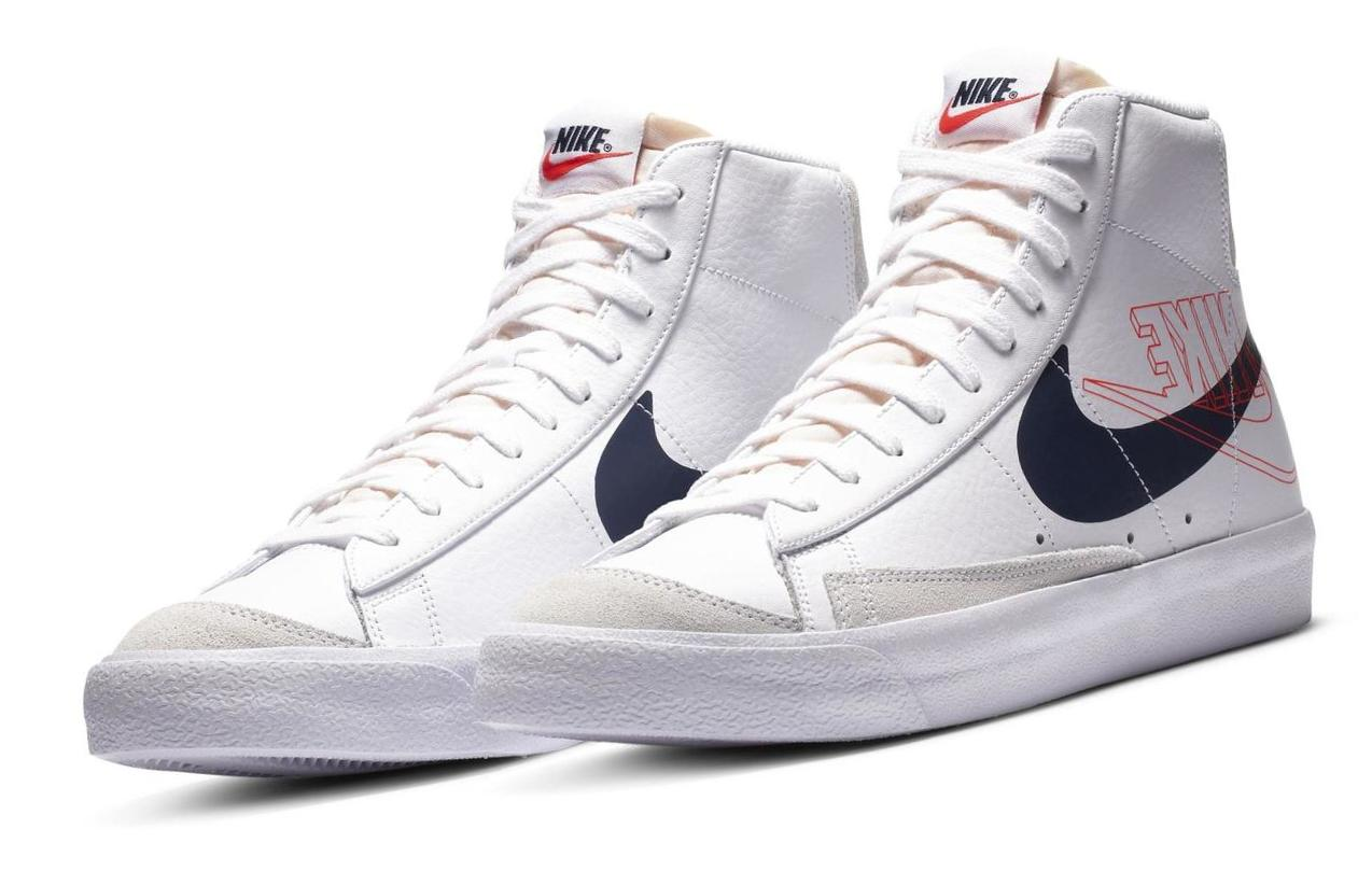 Nike Blazer Mid '77 White/Sail/Summit White/Midnight Navy