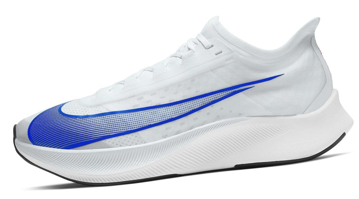 Nike Zoom Fly 3 Pure Platinum/Bright Crimson/Black/Racer Blue
