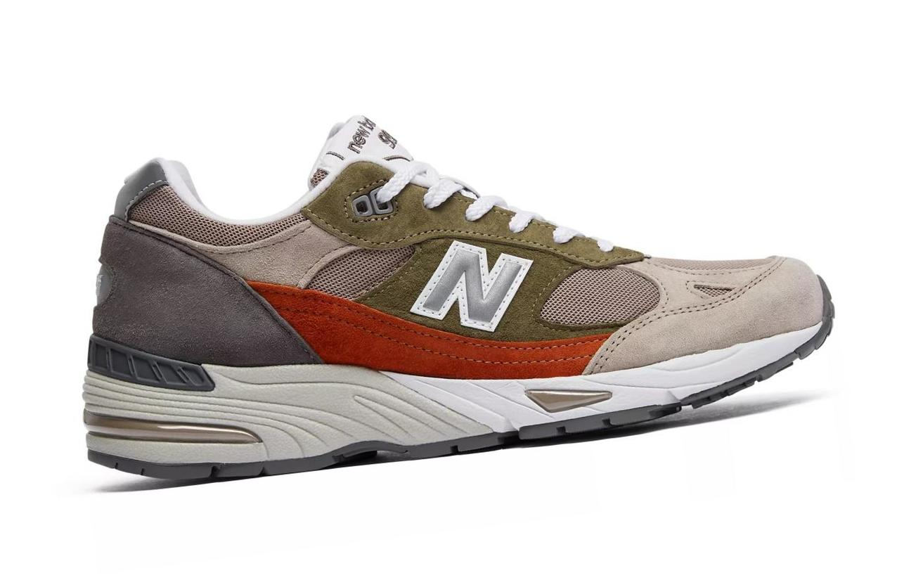 New Balance 991 Made in UK Nu Block  								Nude/Grey/Olive M991NGO/D10