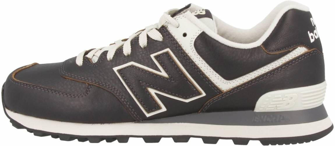 all leather new balance 574
