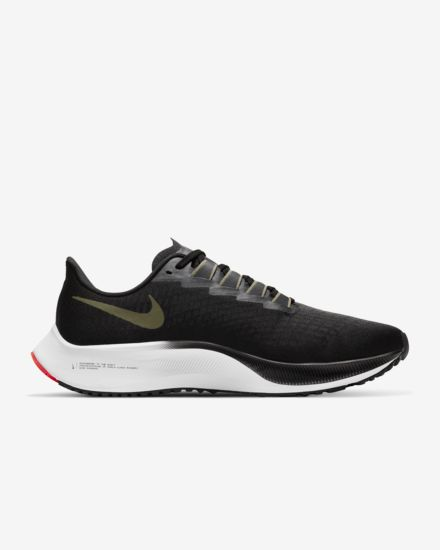 Nike Air Zoom Pegasus 37  Black / Olive Aura / Laser Dark Red / Calm Olive