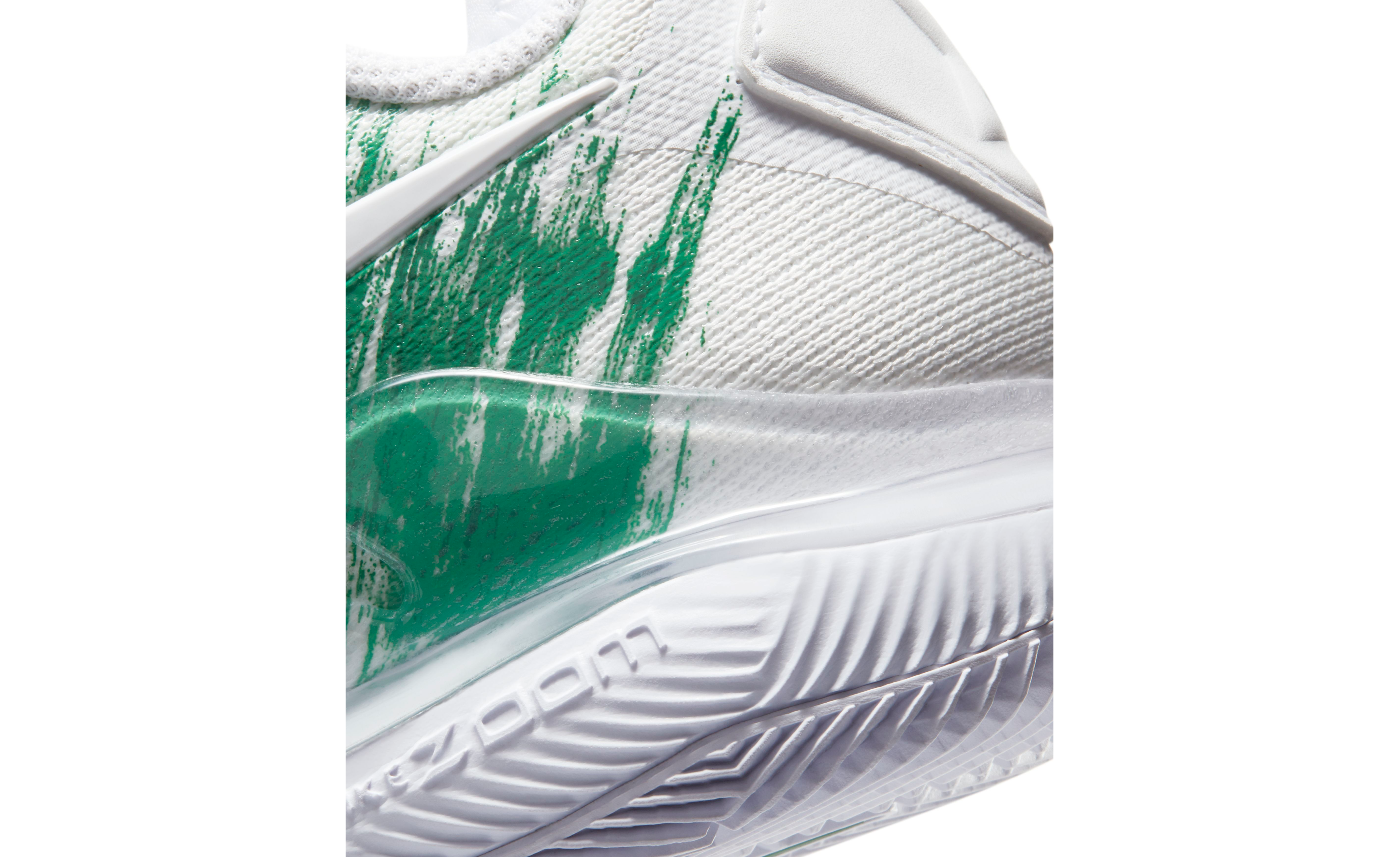 NikeCourt Air Zoom Vapor X Knit White / Clover / Saturated Green / White