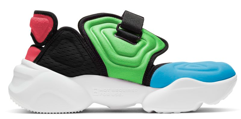 Nike Aqua Rift Blue Fury / Black / Green Discharge / Flash Crimson