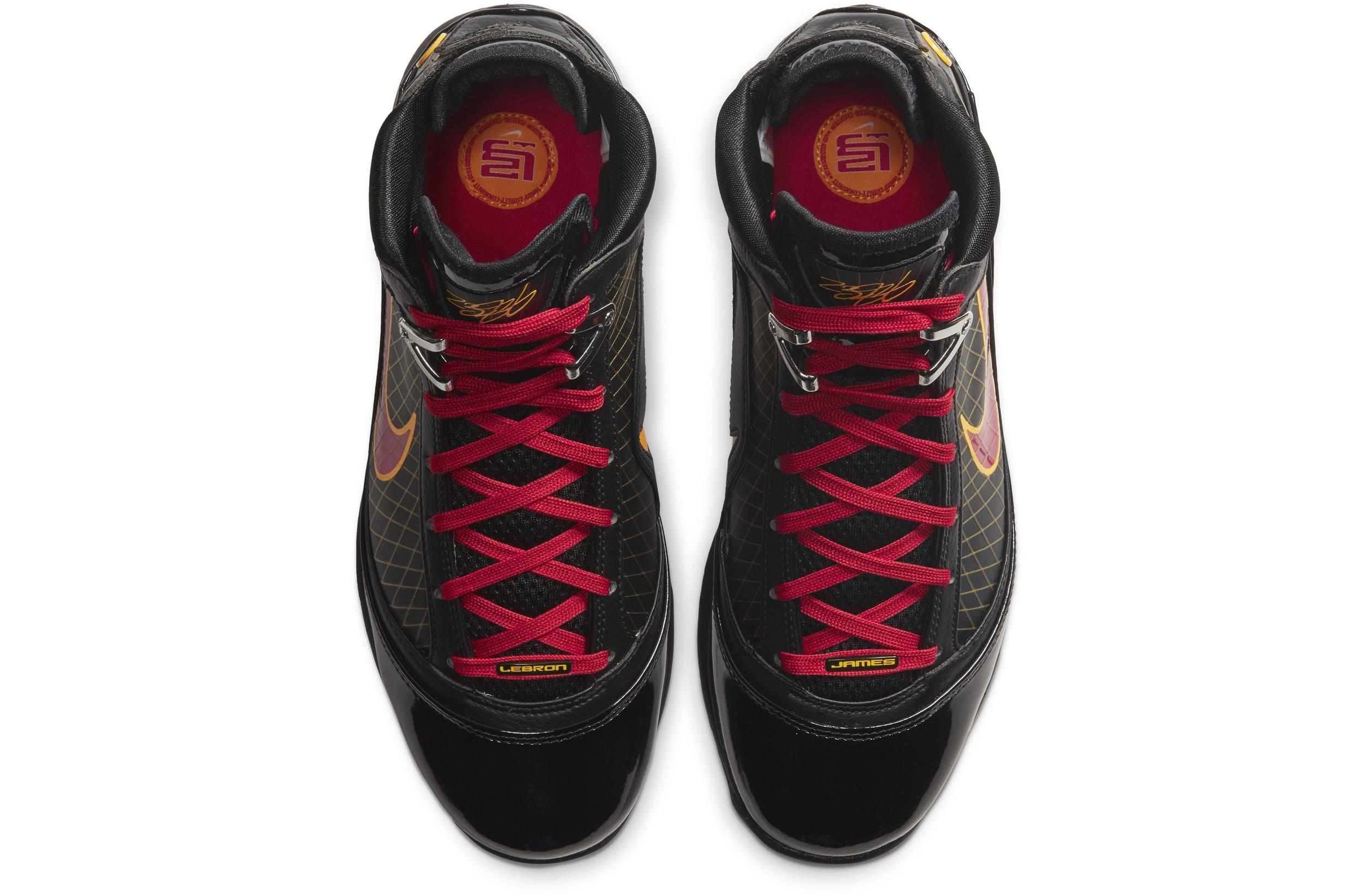LeBron 7 QS Black/Varsity Maize/Varsity Red