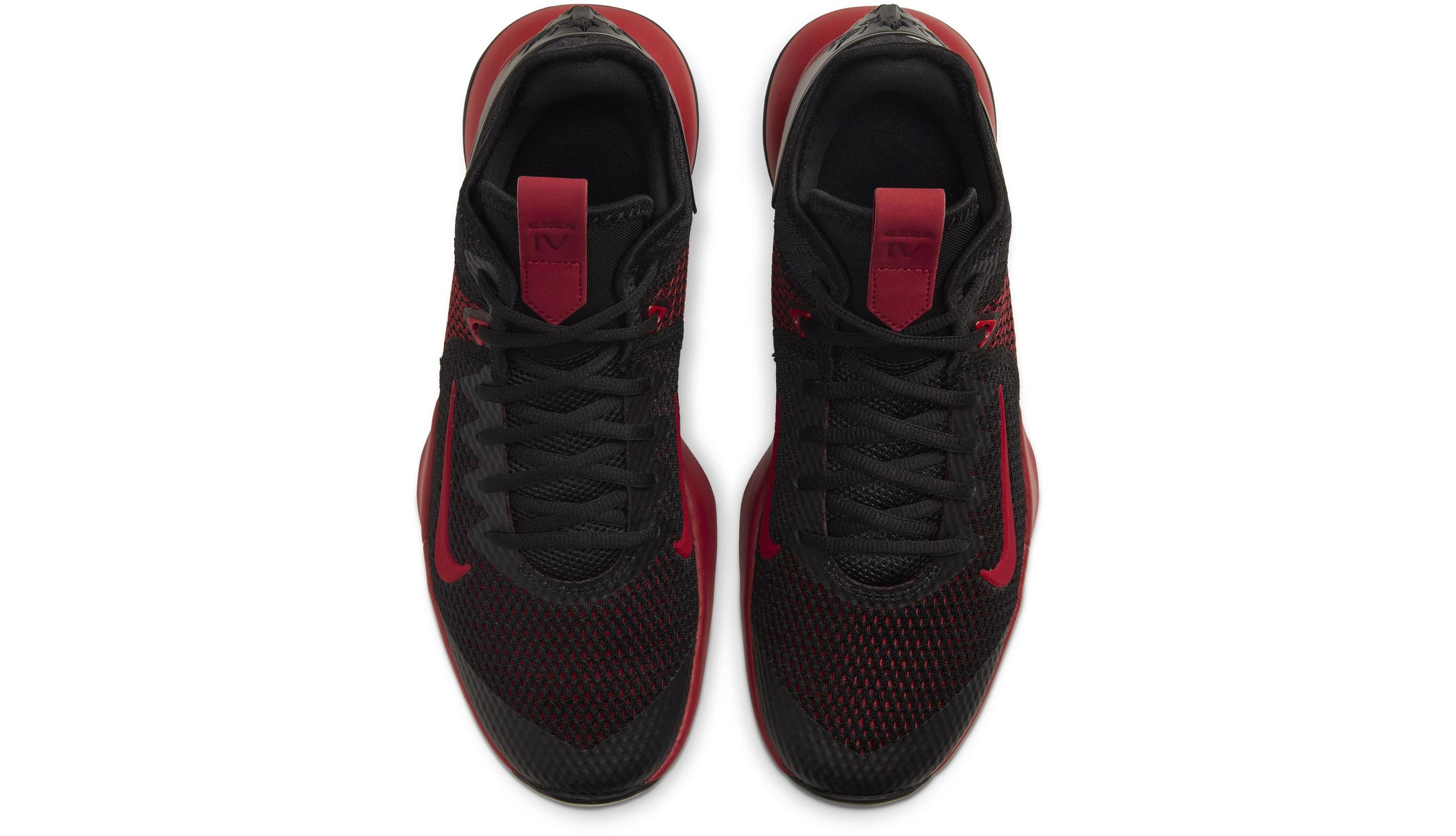 LeBron Witness 4 Black/Bright Crimson/Gym red