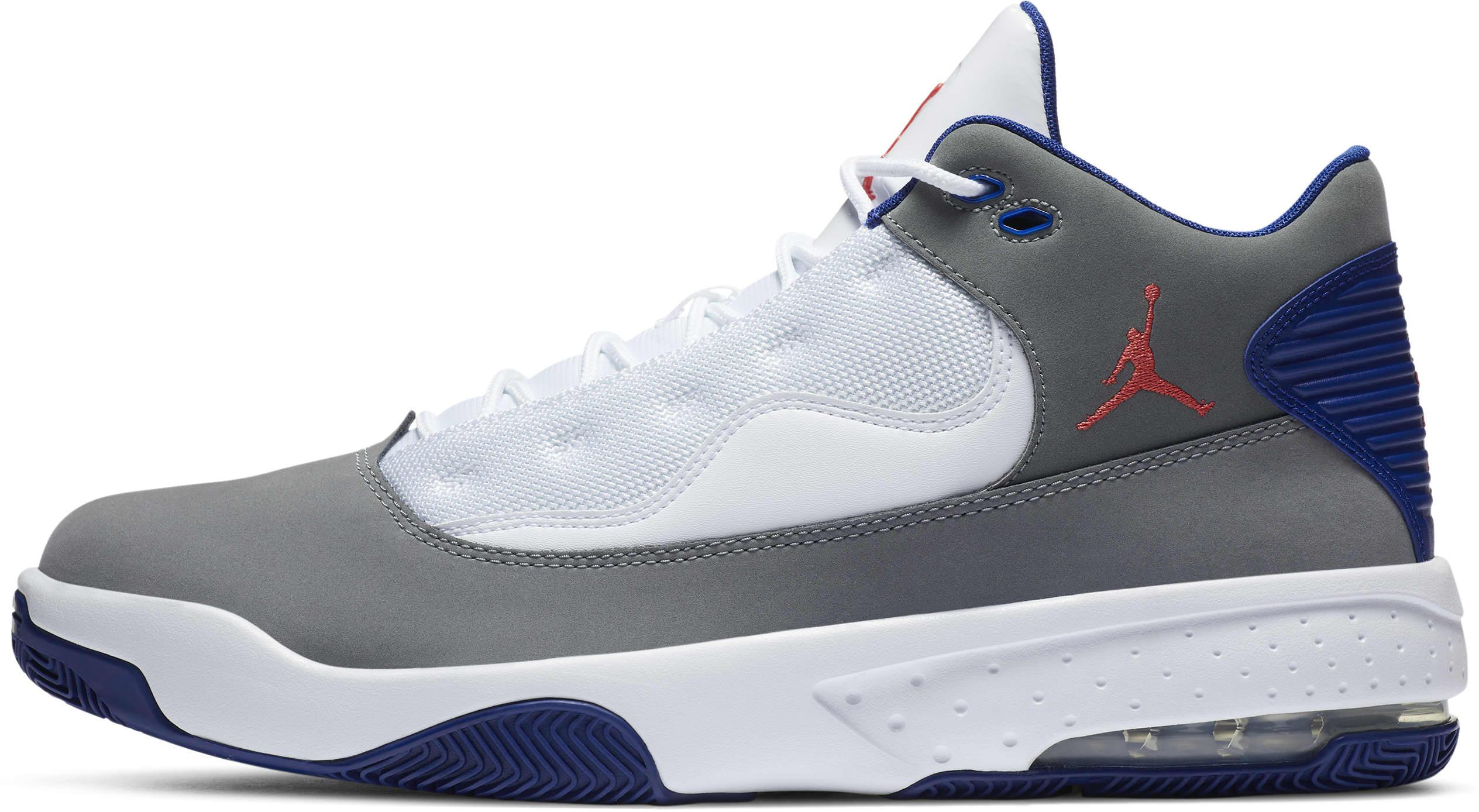Jordan Max Aura 2 Smoke Grey/White/Deep Royal Blue/Track Red