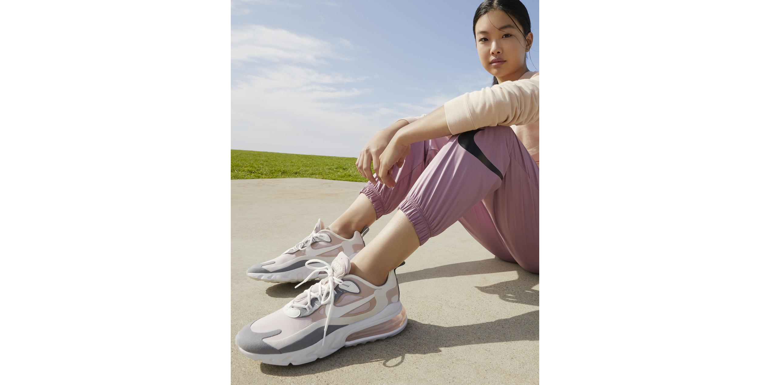 Nike Air Max 270 React Plum Chalk/Stone Mauve/Smoke Grey/Summit White