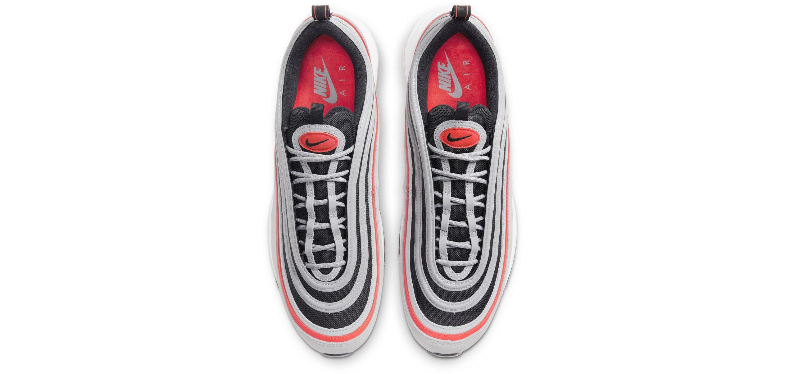 Nike Air Max 97 Wolf Grey/Black/White/Radiant Red
