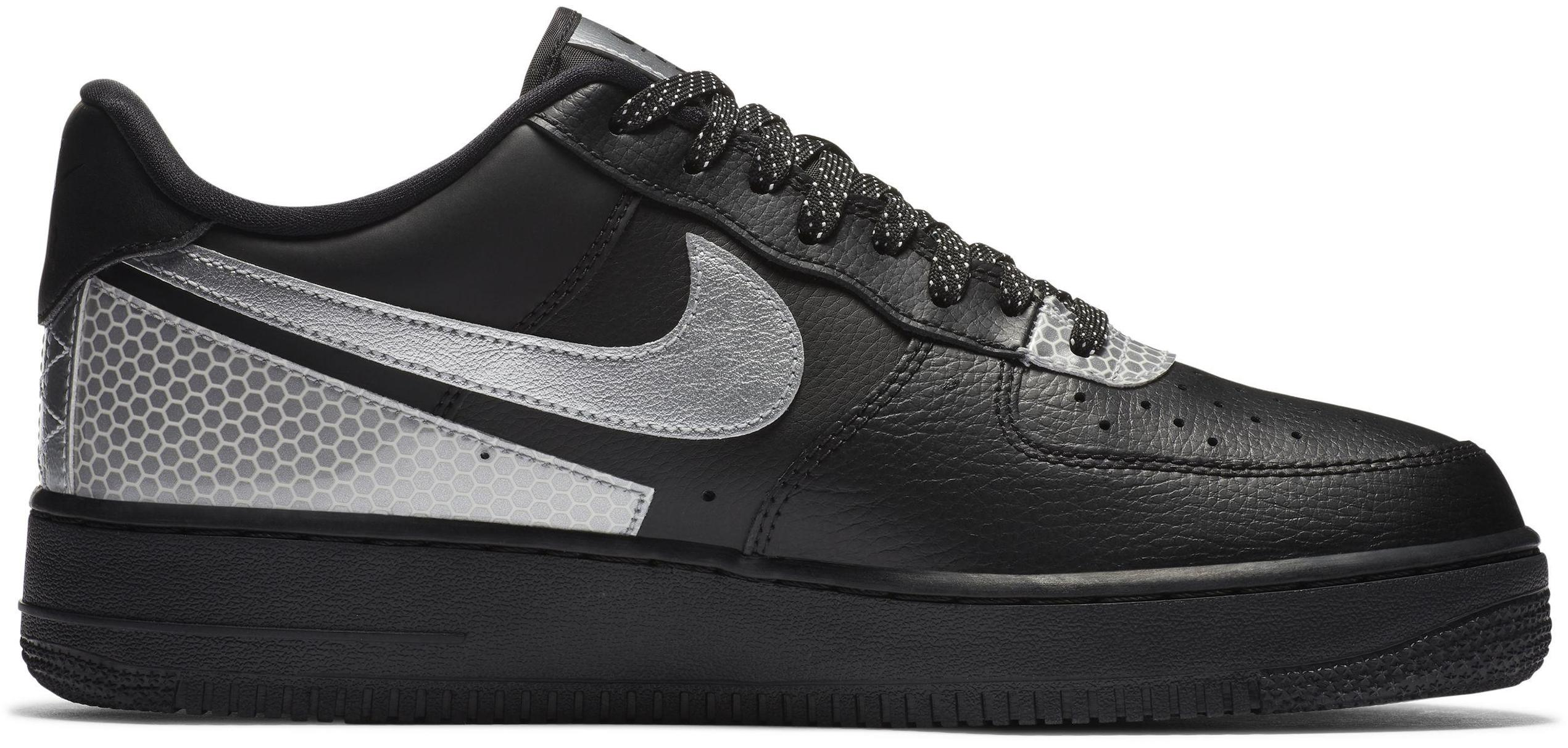 Nike Air Force 1 '07 LV8 Black/Black/Metallic Silver