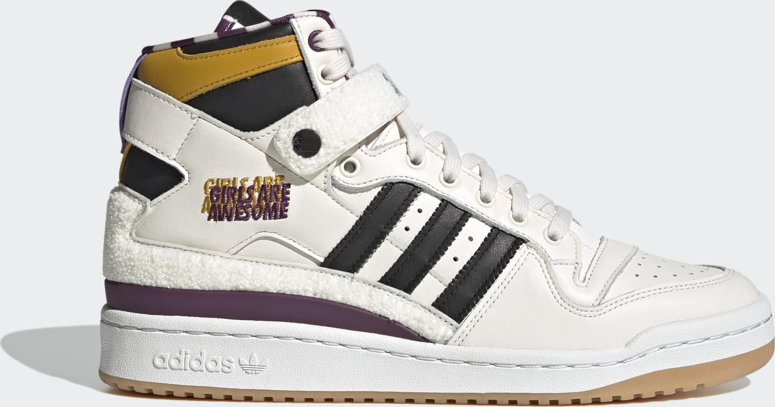 adidas Forum 84 Hi Girls Are Awesome Chalk White / Core Black / Purple Beauty